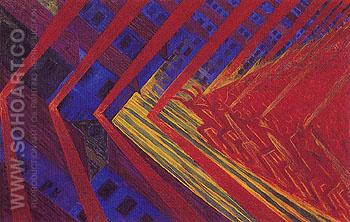 Revolt 1911 - Luigi Russolo reproduction oil painting