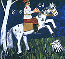 Soldier on a Horse c1911 - Mikhail Larionov