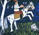 Soldier on a Horse c1911 - Mikhail Larionov