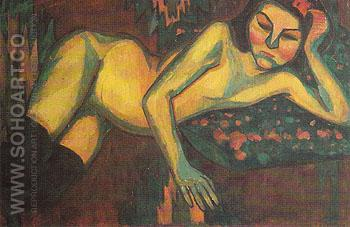 Yellow Nude 1908 - Sonia Delaunay reproduction oil painting