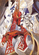 Eiffel Tower or Red Tower 1911 - Robert Delaunay reproduction oil painting