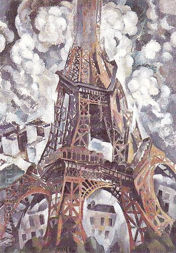 Eiffel Tower 1910 A - Robert Delaunay reproduction oil painting