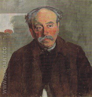 Portrait of the Douanier Rousseau 1914 - Robert Delaunay reproduction oil painting