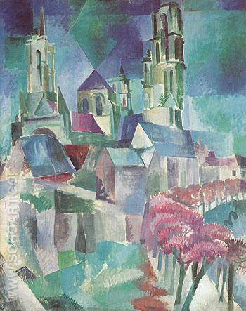 The Tower of Laon 1912 - Robert Delaunay reproduction oil painting