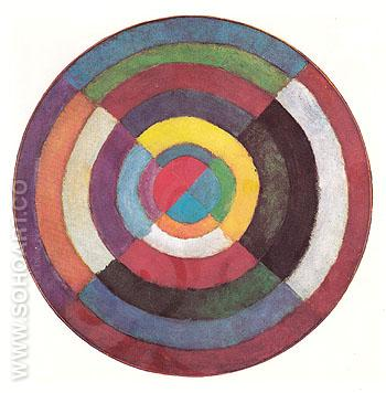 Disk First Nonobjective Painting c1912 - Robert Delaunay reproduction oil painting