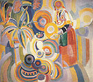 Tall Portuguese Woman  1916 - Robert Delaunay reproduction oil painting