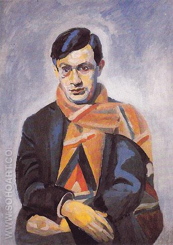 Portrait of Tristan Tzara 1923 - Robert Delaunay reproduction oil painting