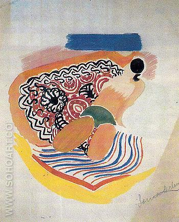 Bather 1929 - Sonia Delaunay reproduction oil painting