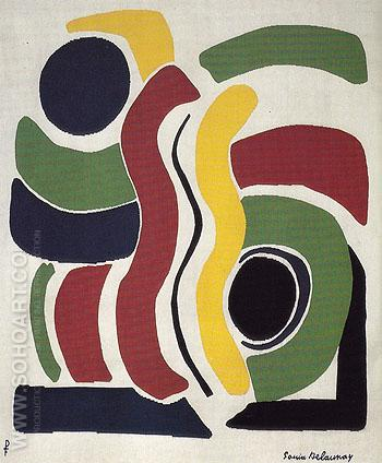 Childrens Games 1969 - Sonia Delaunay reproduction oil painting