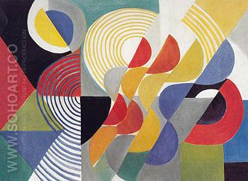 Composition Rhythm c1955 - Sonia Delaunay reproduction oil painting