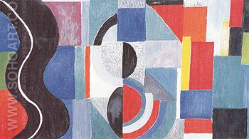Syncopated Rhythm or the Black Serpent 1967 - Sonia Delaunay reproduction oil painting