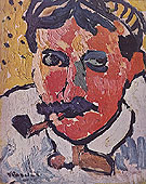 Portrait of Derain 1905 - Maurice de Vlaminck
