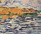 Houses on the Banks of the Seine at Chatou c1906 - Maurice de Vlaminck