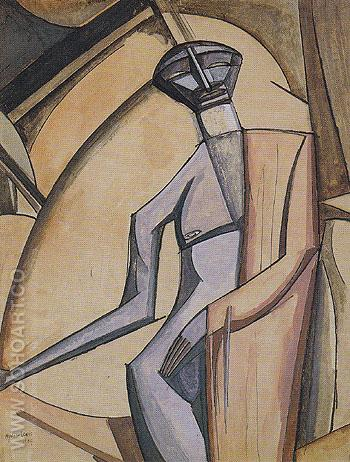 The Celibate 1909 - Percy Wyndham Lewis reproduction oil painting