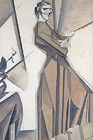 Smiling Woman Ascending a Stair c1911 - Percy Wyndham Lewis