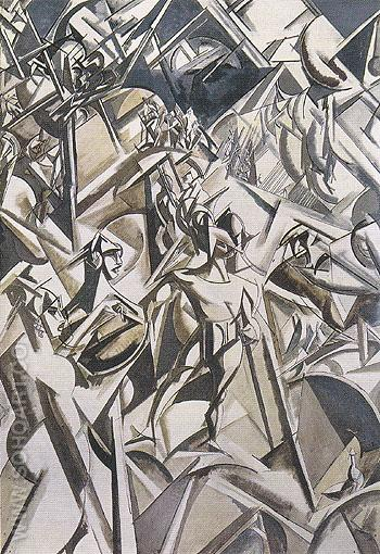 The Thebaide 1912 - Percy Wyndham Lewis reproduction oil painting