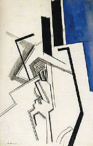 Composition in Blue 1915 - Percy Wyndham Lewis