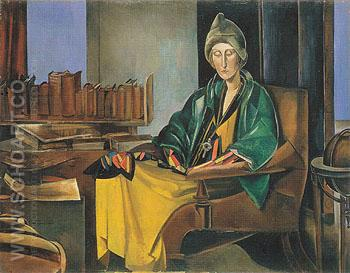 Edith Sitwell c1923 - Percy Wyndham Lewis reproduction oil painting