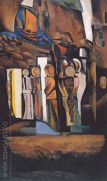 One of the Stations of the Dead 1933 - Percy Wyndham Lewis reproduction oil painting