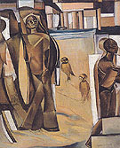 Inca and the Birds 1933 - Percy Wyndham Lewis reproduction oil painting