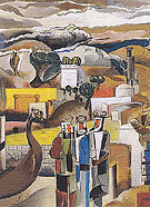 Landscape with Northmen c1936 - Percy Wyndham Lewis