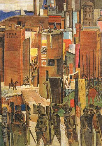 The Surrender of Barcelona c1936 - Percy Wyndham Lewis reproduction oil painting