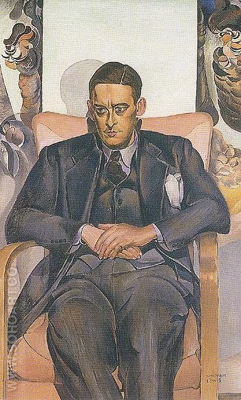 Portrait of TS Eliot 1938 - Percy Wyndham Lewis reproduction oil painting