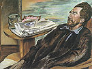 Ezra Pound 1939 - Percy Wyndham Lewis reproduction oil painting
