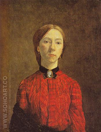Self Portrait 1902 - John Gwen reproduction oil painting