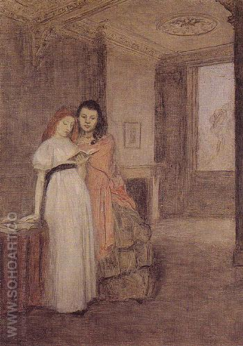 Interior with Figures c1898 - John Gwen reproduction oil painting