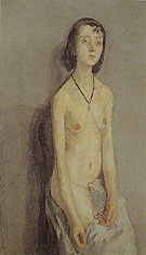 Nude Girl c1909 - John Gwen reproduction oil painting