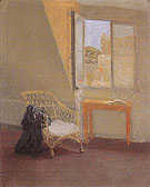 A Corner of the Artists Room in Paris with Open Window c1907 - John Gwen reproduction oil painting