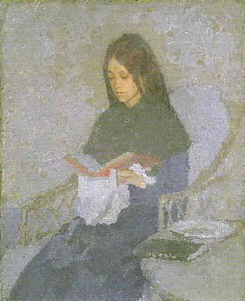 The Precious Book c1920 - John Gwen reproduction oil painting