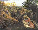 Rest on the Flight into Egypt c1824 - Samuel Palmer reproduction oil painting