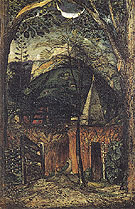 A Hilly Scene c1826 - Samuel Palmer reproduction oil painting