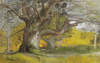 Oak Trees Lullingstone Park 1828 - Samuel Palmer reproduction oil painting