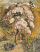 In a Shoreham Garden c1829 - Samuel Palmer reproduction oil painting