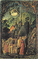 Coming from Evening Church 1830 - Samuel Palmer reproduction oil painting