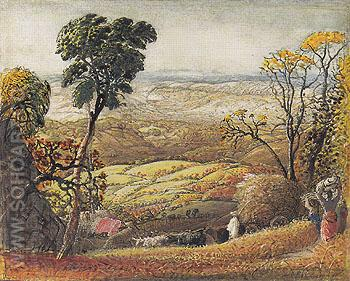 The Golden Valley c1833 - Samuel Palmer reproduction oil painting