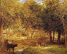 Farmyard and Shaded Stream Shoreham c1834 - Samuel Palmer reproduction oil painting