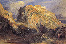 Tintagel Castle Approaching Rain 1848 - Samuel Palmer reproduction oil painting