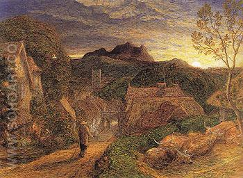 The Bellman c1864 - Samuel Palmer reproduction oil painting