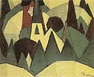 Nature Symbolized No 3 Steeple and Trees c1911 - Arthur Dove reproduction oil painting