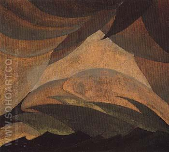 Golden Storm 1925 - Arthur Dove reproduction oil painting