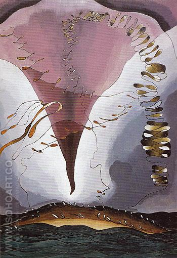 Seagull Motif Violet and Green 1928 - Arthur Dove reproduction oil painting