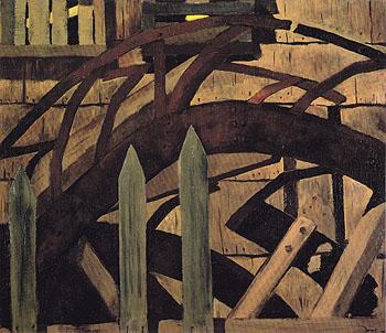 The Mill Wheel Huntington Harbor 1930 - Arthur Dove reproduction oil painting