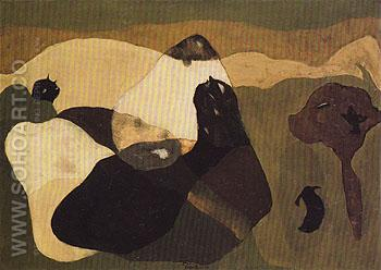 Cows in Pasture 1935 - Arthur Dove reproduction oil painting