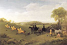 Racehorses Exercising on the Downs at Goodwood Watched by Mary Duchess of Richmond and Lady George Lennox 1760 - George Stubbs reproduction oil painting