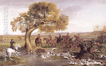 The Grosvenor Hunt 1762 - George Stubbs reproduction oil painting