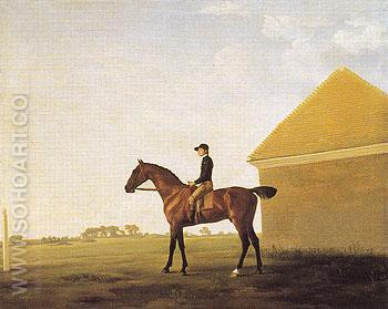 Turf with Jockey Up at Newmarket c1765 - George Stubbs reproduction oil painting